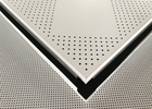 Cina Aluminium Powder Coated Perforated Metal Ceiling Panel 600 X 600 X 0.6mm perusahaan