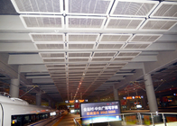Interior Galvanized Iron Wire Diperluas Metal Mesh Ceiling, Powder Coating Suspended Metal Ceiling Tiles