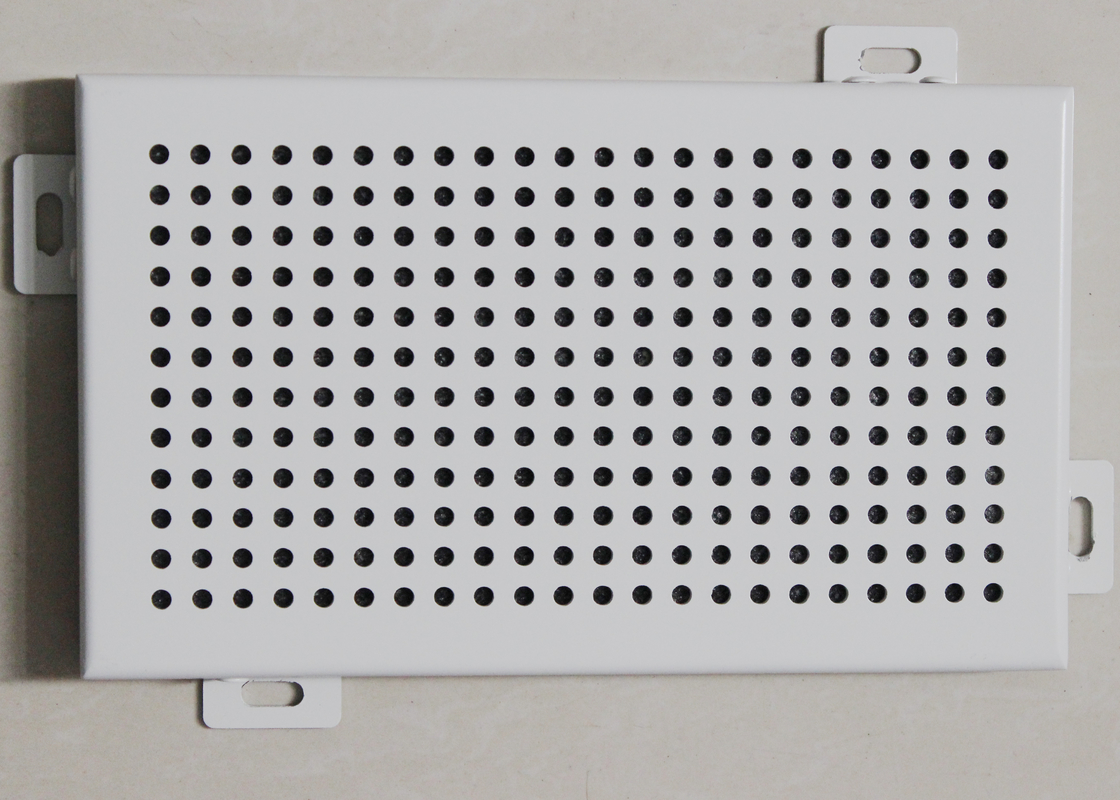Acoustical Aluminum Wall Panels / Commercial Perforated Metal Ceiling Panel Tiles