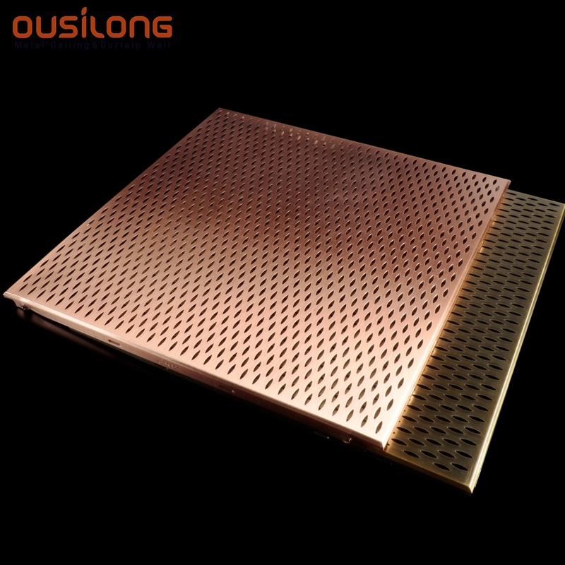 Electro Gilding Metallic Copper Acoustical Suspended Ceiling