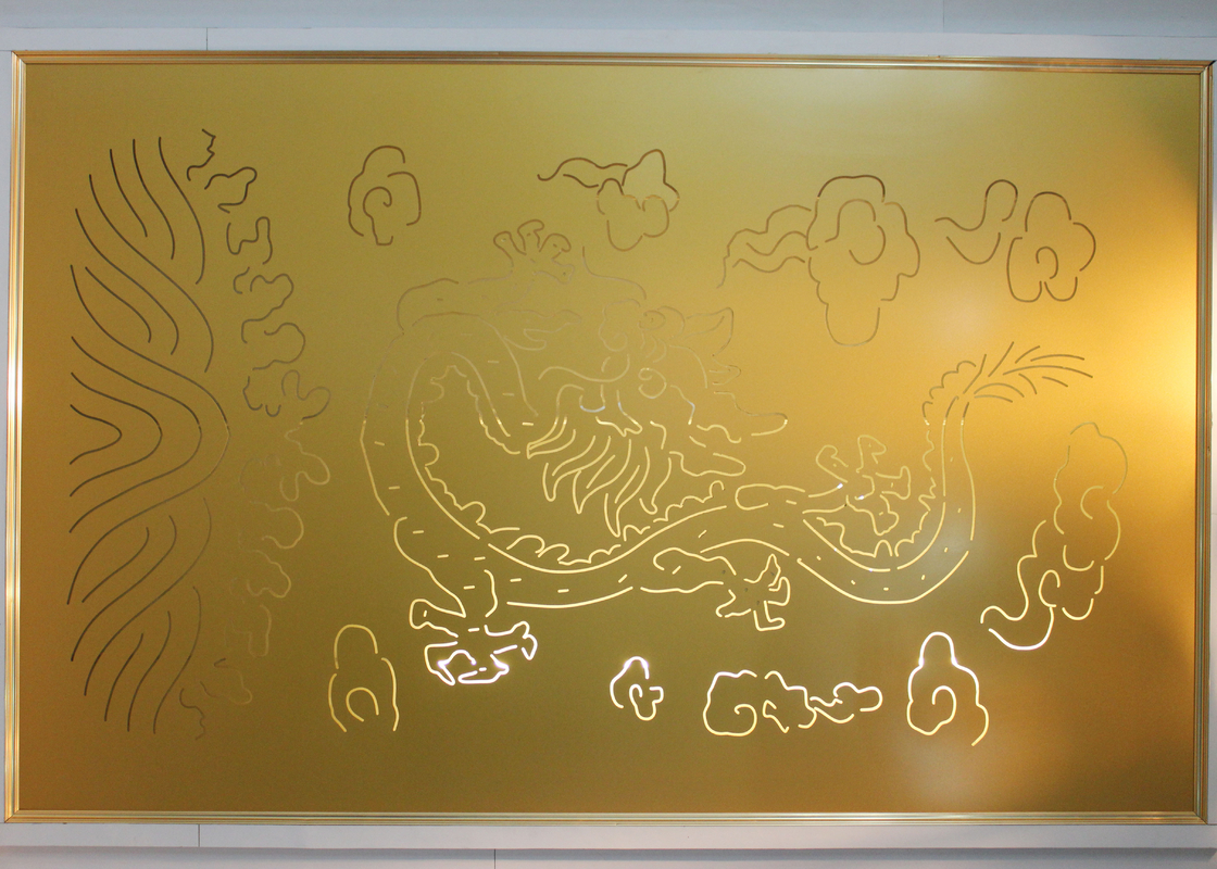 Laser Carving decorative metal wall panels with Culture Element Custom Made Pattern
