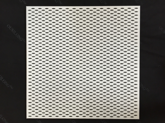 600 x 600 Fireproof Acoustic Aluminium Perforated Ceiling panel untuk dekorasi